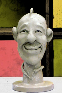 Clay Face Sculpture